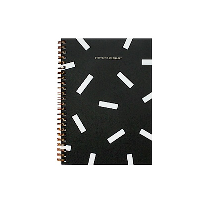 BNTP 雙內頁環裝筆記本A5-糖霜黑