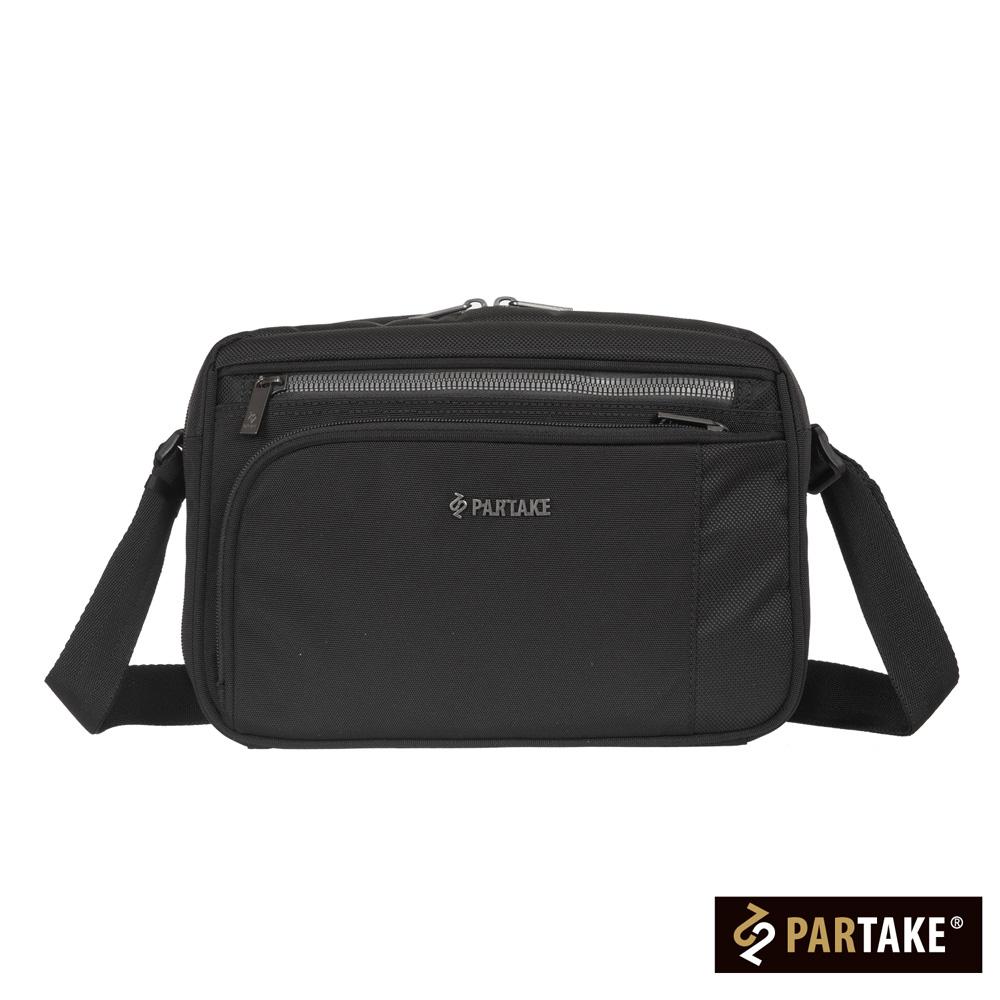 PARTAKE-C1男性商務系列-橫式側背包-黑-PT17-C1-61BK
