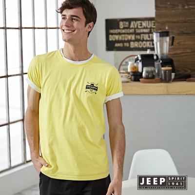 JEEP 美式簡單生活短袖TEE (鮮黃)