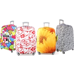 色彩繽紛24吋行李箱防污保護套一個(22-25吋行李箱適用)