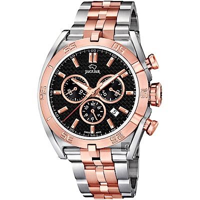 JAGUAR積架 EXECUTIVE 極速計時手錶-黑x雙色/45.8mm