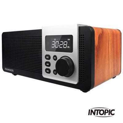 [時時樂限定]INTOPIC 廣鼎 多功能木質藍牙喇叭(SP-HM-BT271)