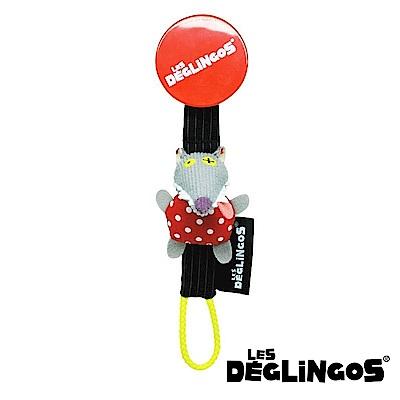 Les Deglingos 立體玩偶奶嘴夾-狼 (BIGBOS)