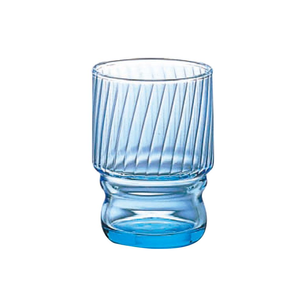 日本ADERIA 強化水杯 235ml-藍(3入)