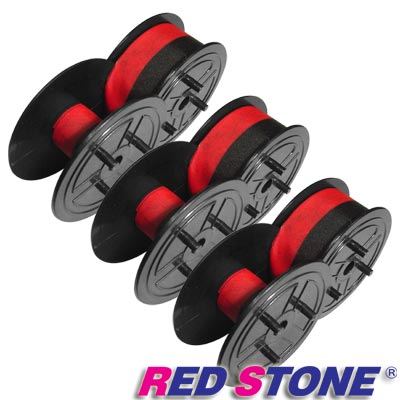 RED STONE for 紅黑圓盤 收銀機/記錄器 色帶(<b>1</b>組<b>3</b>入)黑色&紅色