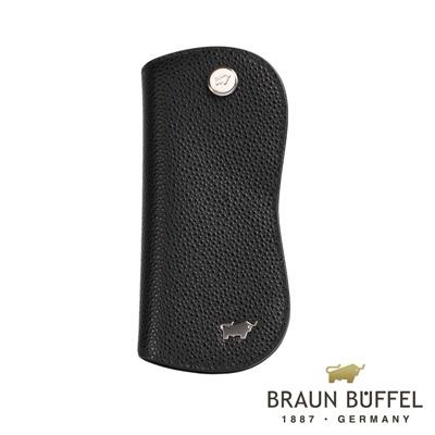 BRAUN-BUFFEL-HOMME-B紳士系列單鎖鑰匙包-黑色