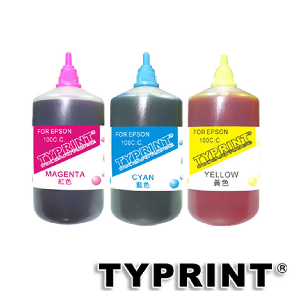 TY 『EPSON專用』 連續供墨補充墨水100CC (藍紅黃)