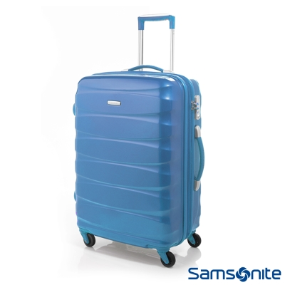 Samsonite新秀麗-24吋Oval靜音輪可擴充硬殼TSA行李箱-藍