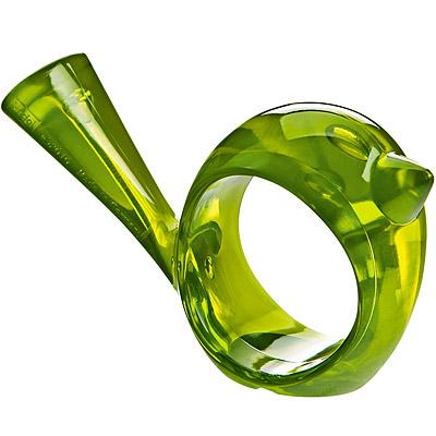 KOZIOL Pi鳥型餐巾環(透綠)