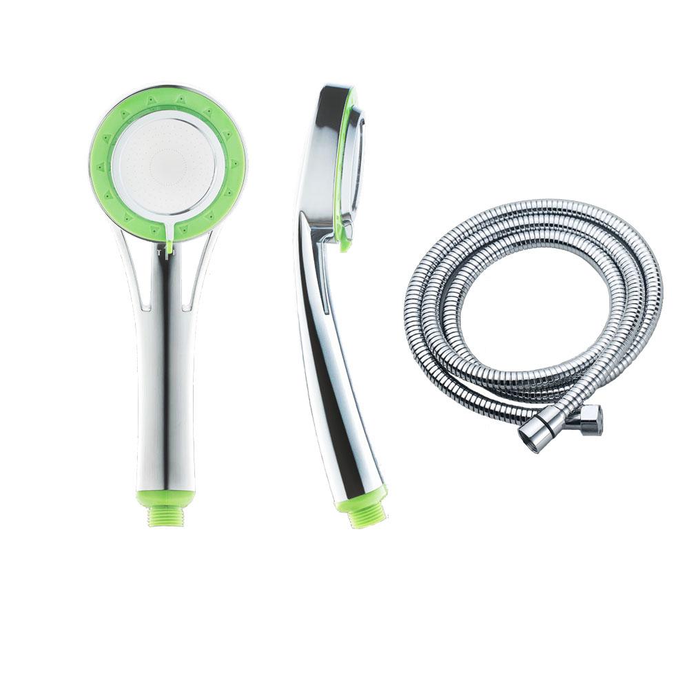 新一代負離子SPA加壓節水大面積蓮蓬頭含不鏽鋼拉伸管  1入
