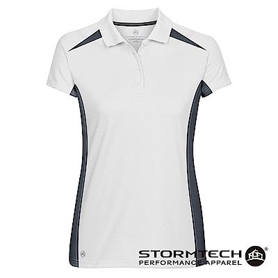 【加拿大STORMTECH】時尚經典透氣速乾POLO衫TXP-1W-女-白