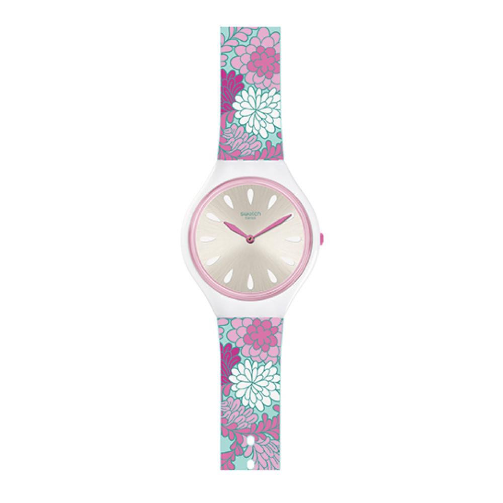 Swatch SKIN超薄系列 SKINPIVOINE 花漾媽咪手錶