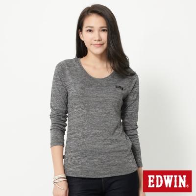 EDWIN-LOGO長袖保溫衣-女-黑色