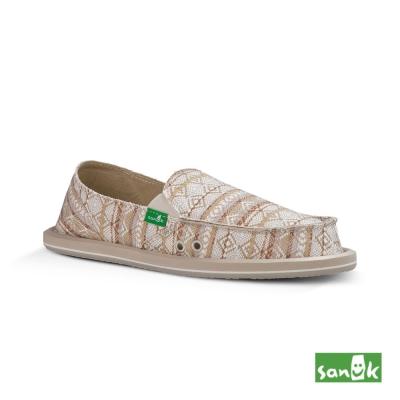 SANUK 部落民俗圖騰懶人鞋-女款(米色)
