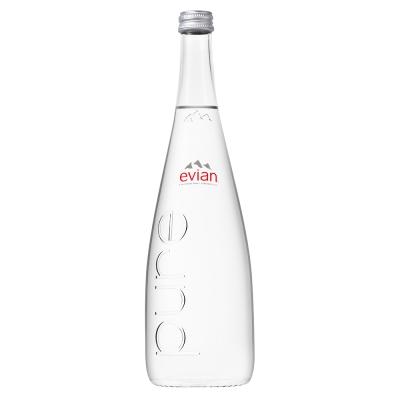 evian依雲 天然礦泉水玻璃瓶(750mlx12入)