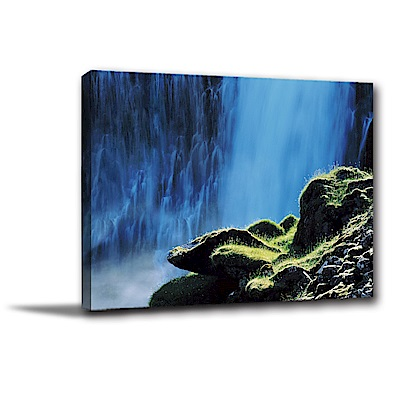 24mama掛畫-單聯式橫幅 掛畫無框畫 靜幽山水 40x30cm