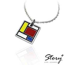 STORY故事銀飾-蒙德里安 316L白鋼項鍊
