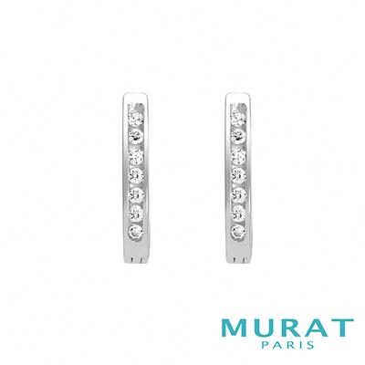 MURAT Paris米哈巴黎 時尚馬蹄滿鑽耳環