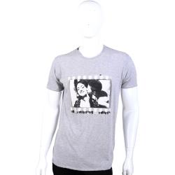 DOLCE & GABBANA 灰色雙人圖像短袖上衣