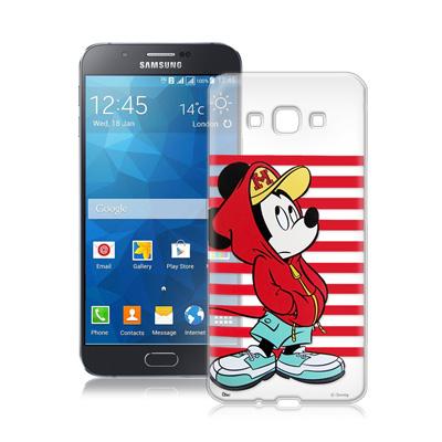 迪士尼Samsung Galaxy A8 A800YZ街頭透明軟式手機殼(帽T米...