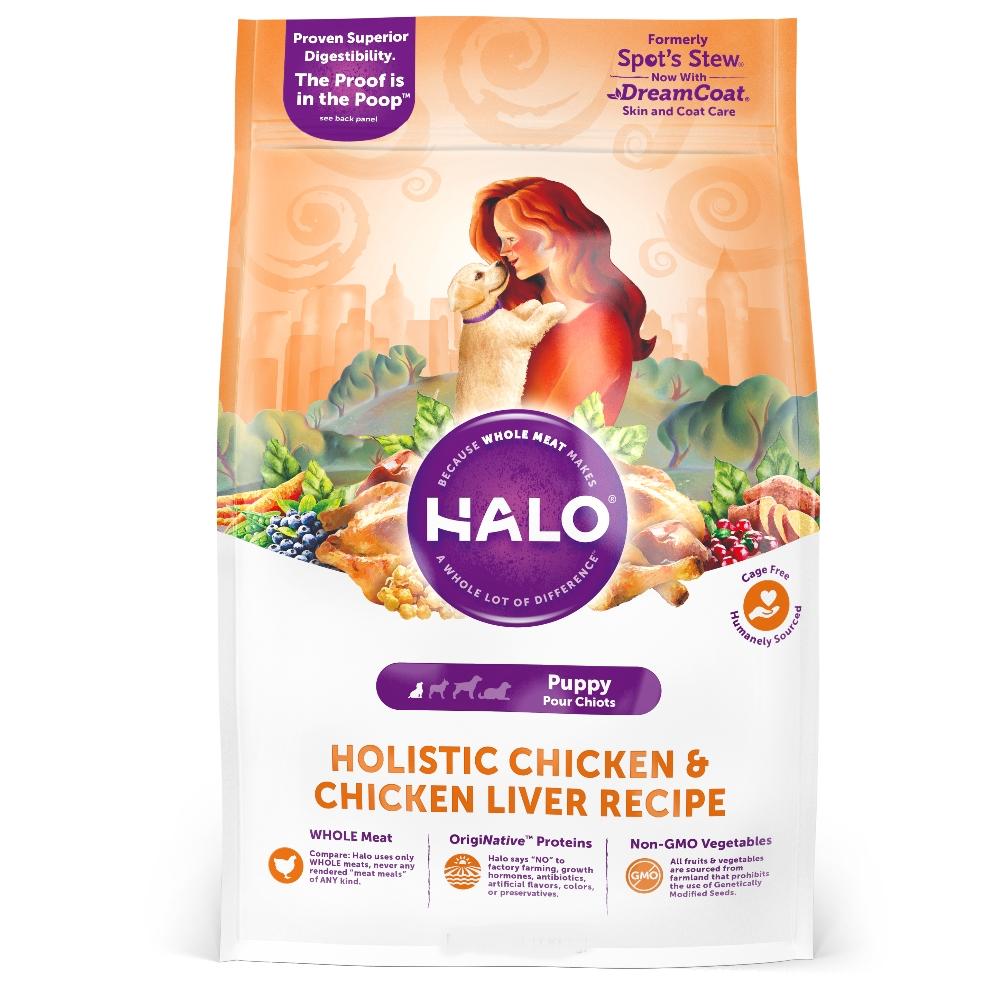 HALO嘿囉 幼犬燉食 新鮮雞肉燉燕麥+豌豆 4磅