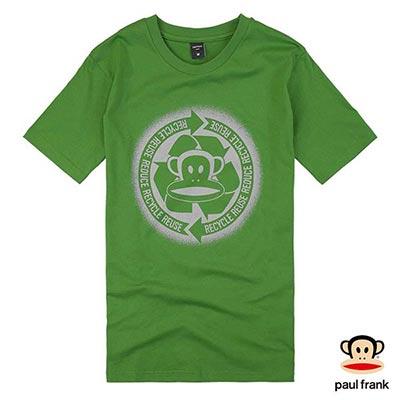 Paul Frank-環保Julius印花短袖T恤-綠色(男)