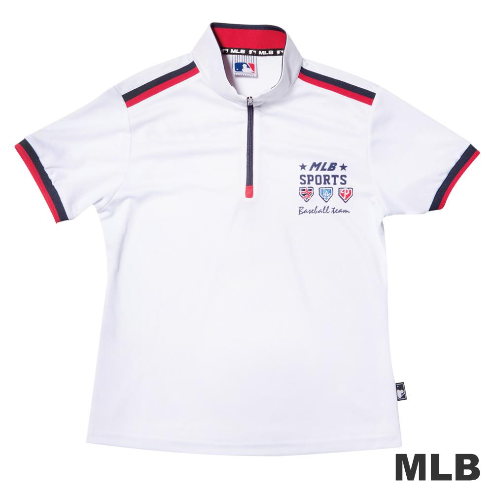 MLB-經典電繡排汗POLO衫-白男童