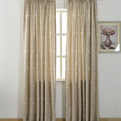 伊美居 - 文藝復興緹花單層半腰窗簾 130x165cm(2件)