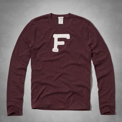 AF a&f Abercrombie & Fitch 長T 紅色 0096