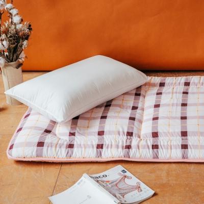 LAMINA 經典格紋日式床墊5cm-紅(單人)