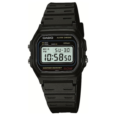 CASIO 黑復古簡便型數位休閒錶(W-59-1)