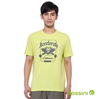 bossini男裝-印花短袖T侐77亮黃