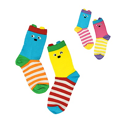 WHY AND 1/2 普普熊吸濕排汗短襪 多色可選