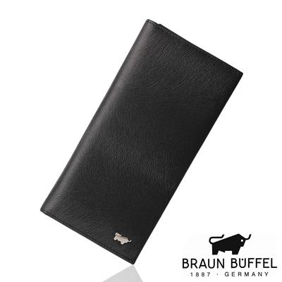 BRAUN BUFFEL - 提貝里烏斯系列17卡零錢長夾 - 黑色