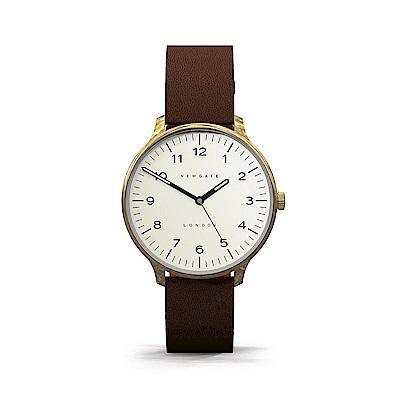 Newgate-BLIP-經典數字-沉穩棕-皮革錶帶-40mm