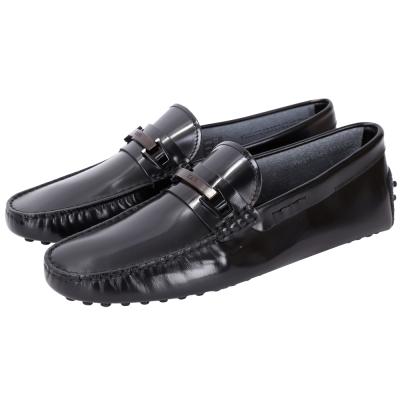 TOD'S GOMMINO MOCASSINO 亮面牛皮豆豆鞋(男鞋/黑色)