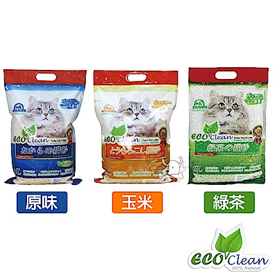 Eco Clean 艾可 天然環保 豆腐貓砂 6L