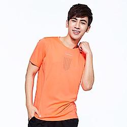 【AIRWALK】盾牌孔洞透氣設圓領T恤-橘色