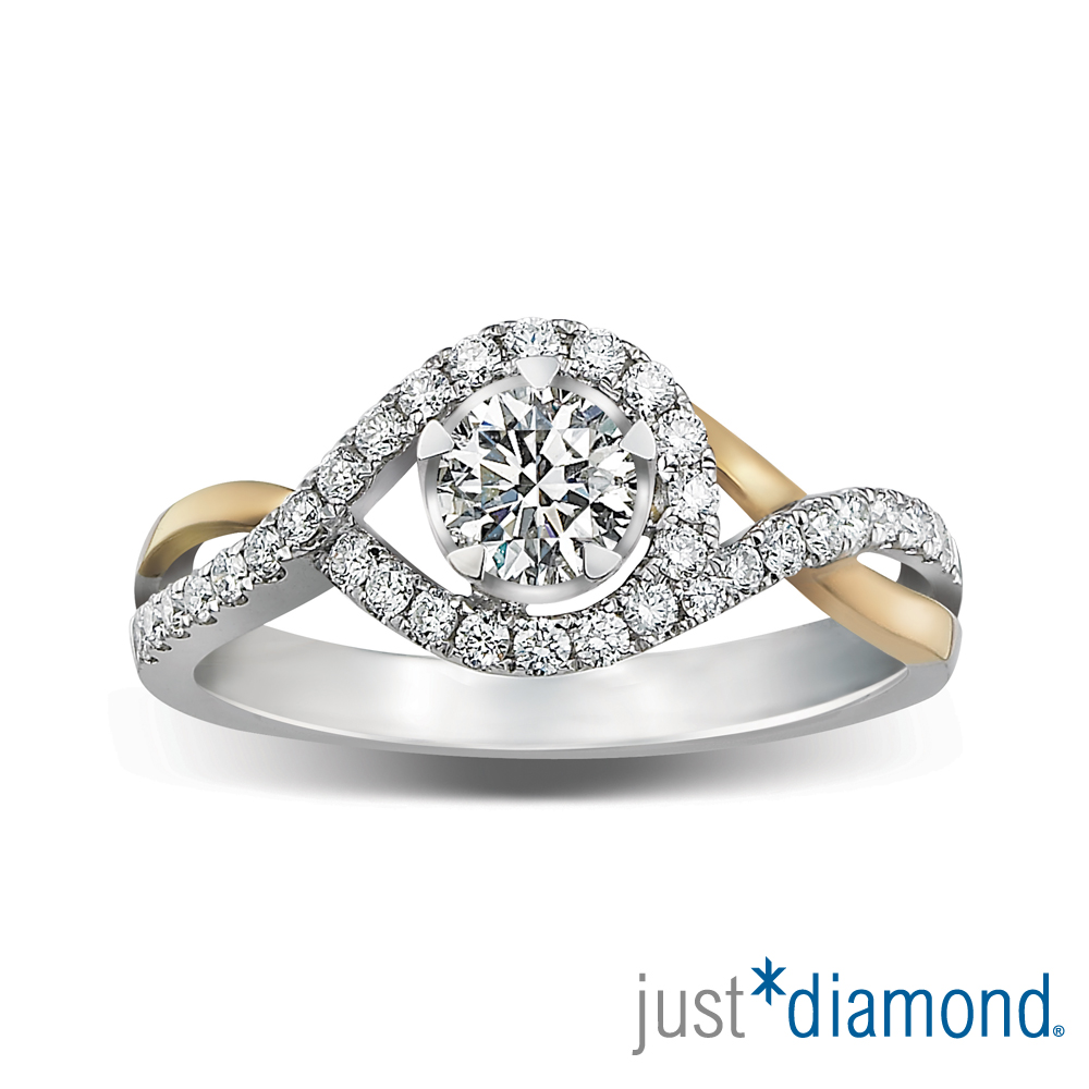 Just Diamond 真女人系列雙色金鑽石戒指-Passions