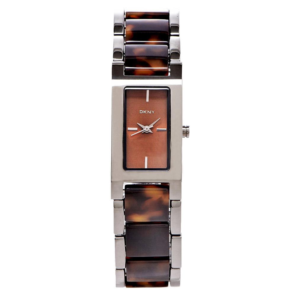 DKNY 復古時尚龜殼紋女性手錶(NY8648) -咖啡面x咖啡色/18mm