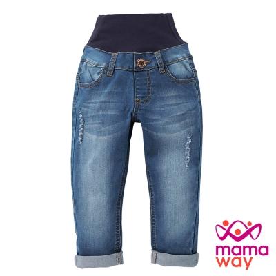 Mamaway Baby Boyfriend刷破牛仔褲(共二色)