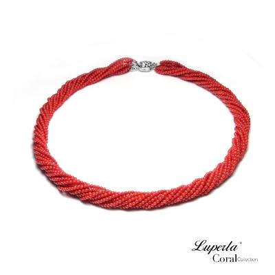 大東山珠寶 天然創意全紅沙丁珊瑚項鍊12條轉