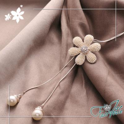 iSFairytale伊飾童話 珍珠雛菊 珍珠花玫瑰金伸縮長鍊
