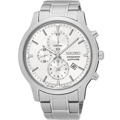 SEIKO 日系美學時尚計時腕錶(SNDG65P1)-銀/42mm