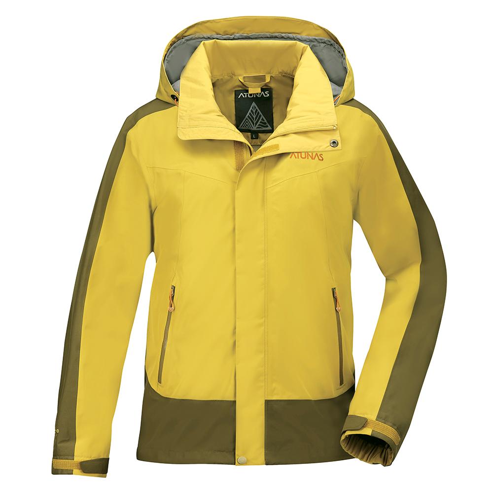 【ATUNAS 歐都納】男款防水GORE-TEX二件式風衣外套A-G1713M黃棕