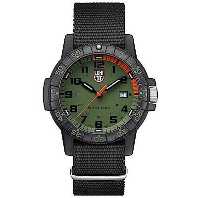 LUMINOX 雷明時SEA TURTLE 0320海龜系列腕錶-軍綠/44mm