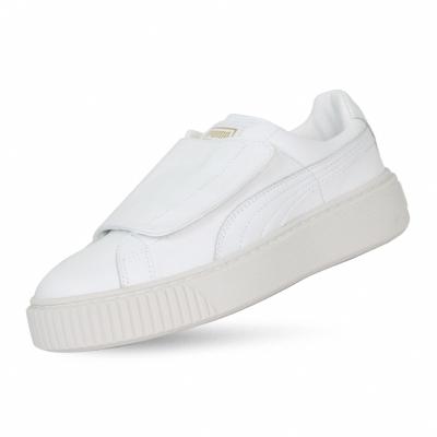 PUMA-BasketPlatformStrap Wns 女性復古休閒鞋-白色