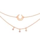 ASTRID&MIYU英國潮流品牌 幾何許願骨項鍊 玫瑰金
