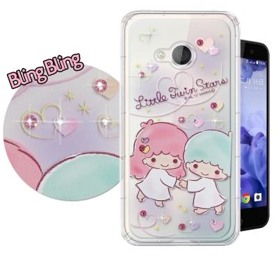 正版雙子星 HTC U Play 5.2吋 施華洛世奇 彩鑽氣墊保護殼(牽手)