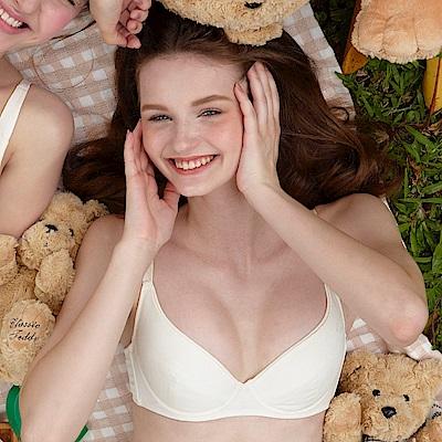 BeeDees蜜笛詩-成長基礎款蘆薈棉小熊寶貝軟鋼圈B-D罩杯內衣(鵝黃)